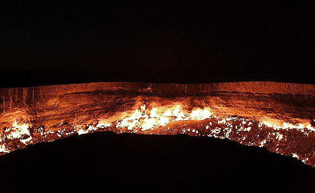 giant burning hole