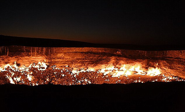 The Giant Burning Hole - Named, The Door To Hell By The Locals 2
