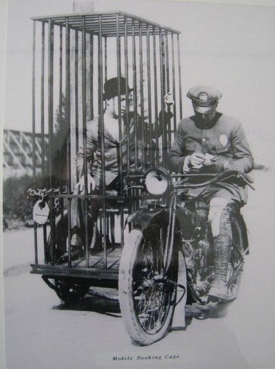 Police bike and cage