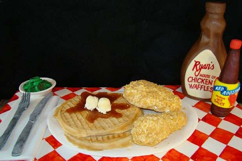 chicken and waffle cake