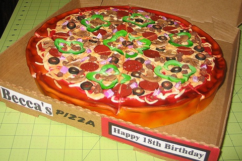 Cookie Cake That Looks Like A Pizza