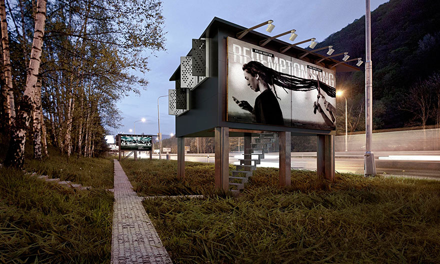 billboard homes for the homeless