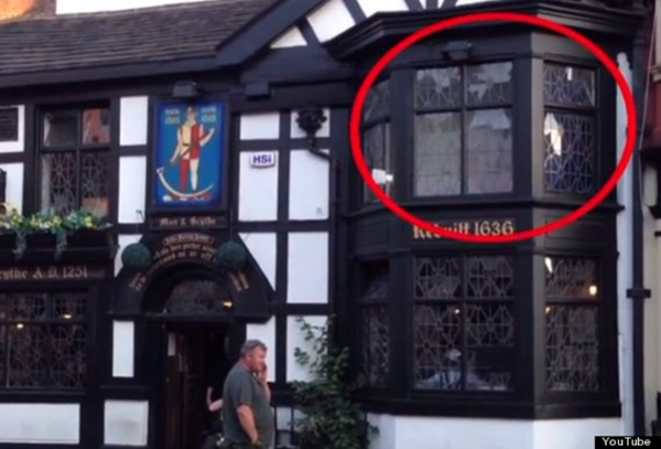 ye olde man and scythe pub bolton lancashire ghost photograph