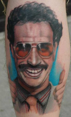 movie inspired tattoo borat