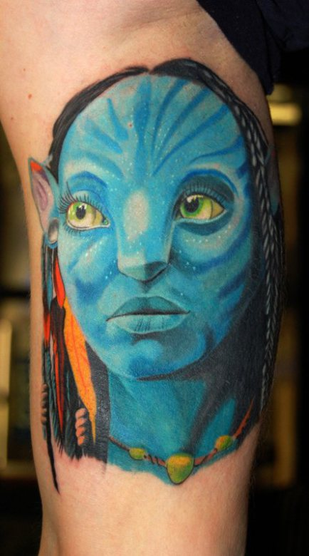 movie inspired tattoo neytiri avatar