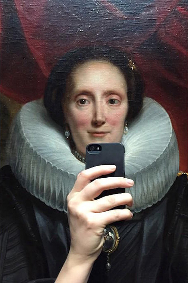 old paintings selfies 1