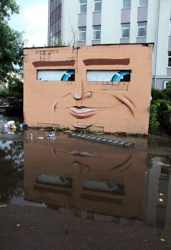 building with face 13