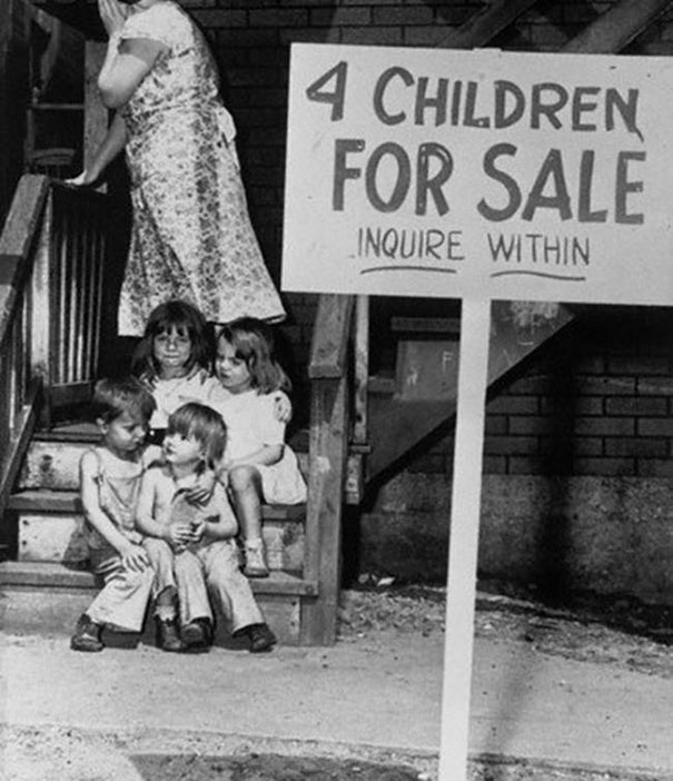 Shame On Mother Trying To Sell Kids 1948