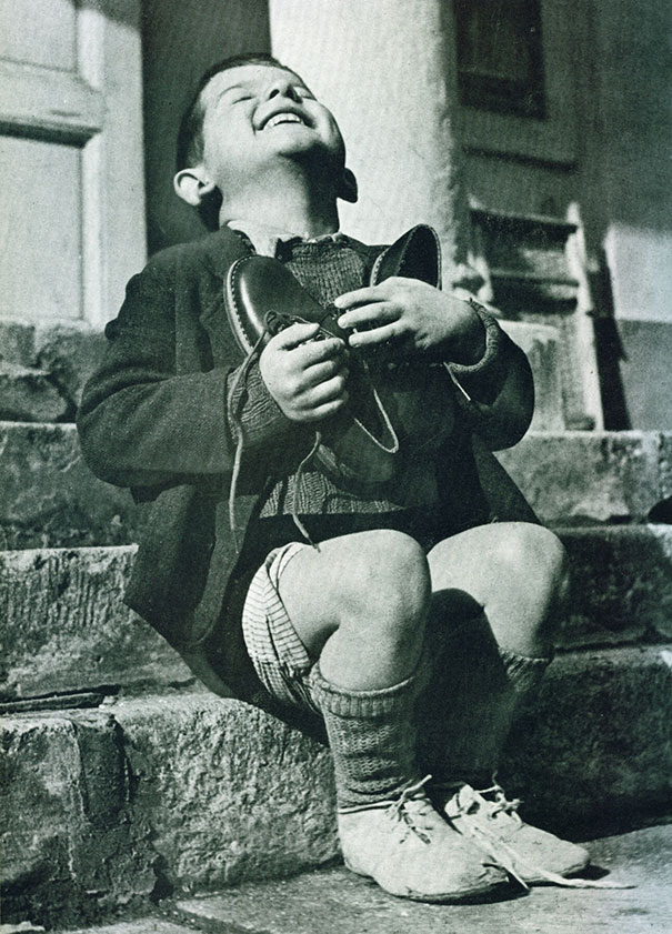WWII New Shoes Boy