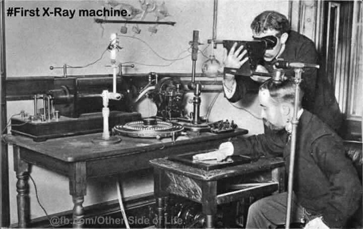 first xray machine