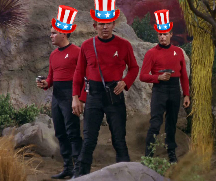 Star Trek Red Shirts Donald Trump's Space Force